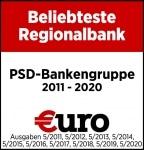 Auszeichnung: Beliebteste Regionalbank bei €uro